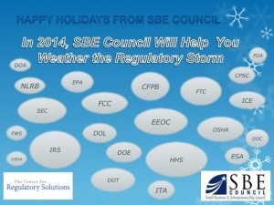 In early 2014, SBE Council will launch the Center for Regulatory Solutions which will advance and advocate for policies and solutions to make the regulatory process more open, accessible and responsive to small businesses and entrepreneurs.