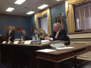 The U.S. House Small Business Committee hosted a March 19 briefing on intellectual property (IP) and small business. SBE Council chief economist Ray Keating (seated on far right) was a panelist, along with entrepreneurs and other industry representatives who spoke about the economic damage that counterfeiters, patent trolls and IP theft in general poses for small firms.