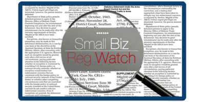 """EPA's proposed federal """"water rule"""" was just added to the House Small Business Committee's """"Small Biz Reg Watch,"""" which alerts entrepreneurs to proposed rules that could have a significant impact on their business. The initiative engages business owners, and urges them to comment and provide feedback on government regulations and policies."""
