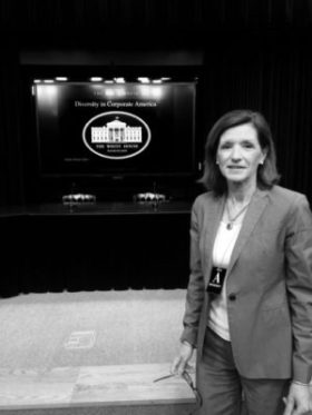 Karen Kerrigan at the White House Summit on Diversity in Corporate America, April 2016.