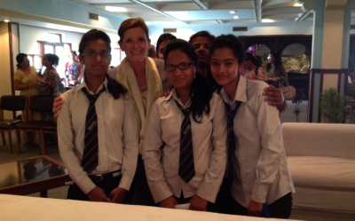In 2013, Kerrigan visited Nepal where she met with young entrepreneurs throughout the country, spoke at various colleges and business association events, and had the opportunity to talk with women and girls about entrepreneurship and leadership.