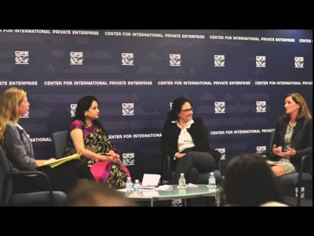 Kerrigan joins at panel discussion at CIPE (October 2015): Giving Women a Voice Through Economic Empowerment.
